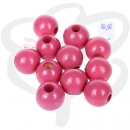 50 Holzperlen 10mm in PINK